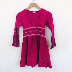 Naartjie Kids Long Sleeve Floral Ruffle Dress 10